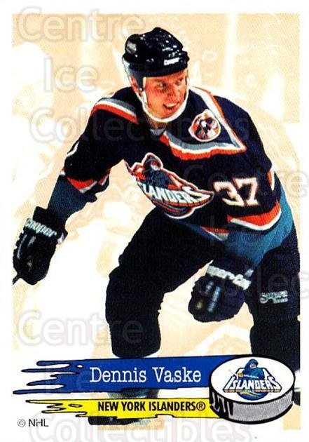 1995-96 Panini Stickers #100 Dennis Vaske<br/>6 In Stock - $1.00 each - <a href=https://centericecollectibles.foxycart.com/cart?name=1995-96%20Panini%20Stickers%20%23100%20Dennis%20Vaske...&quantity_max=6&price=$1.00&code=41217 class=foxycart> Buy it now! </a>