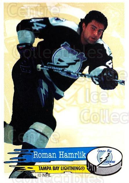 1995-96 Panini Stickers #133 Roman Hamrlik<br/>5 In Stock - $1.00 each - <a href=https://centericecollectibles.foxycart.com/cart?name=1995-96%20Panini%20Stickers%20%23133%20Roman%20Hamrlik...&quantity_max=5&price=$1.00&code=41253 class=foxycart> Buy it now! </a>