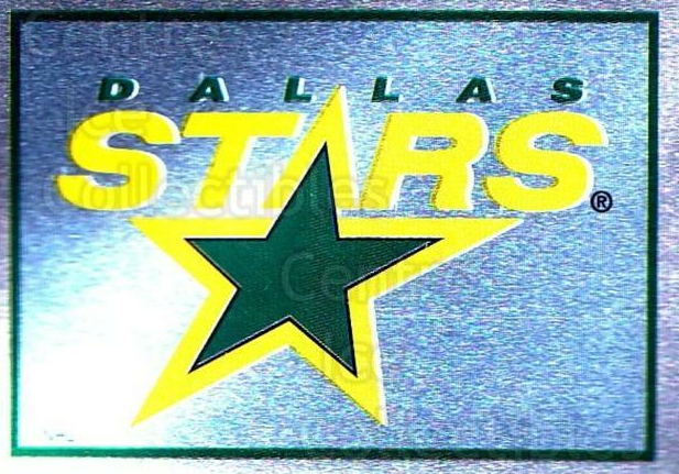 1995-96 Panini Stickers #174 Dallas Stars<br/>6 In Stock - $1.00 each - <a href=https://centericecollectibles.foxycart.com/cart?name=1995-96%20Panini%20Stickers%20%23174%20Dallas%20Stars...&quantity_max=6&price=$1.00&code=41296 class=foxycart> Buy it now! </a>