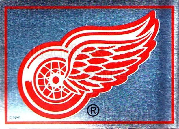 1995-96 Panini Stickers #185 Detroit Red Wings<br/>6 In Stock - $1.00 each - <a href=https://centericecollectibles.foxycart.com/cart?name=1995-96%20Panini%20Stickers%20%23185%20Detroit%20Red%20Win...&quantity_max=6&price=$1.00&code=41305 class=foxycart> Buy it now! </a>