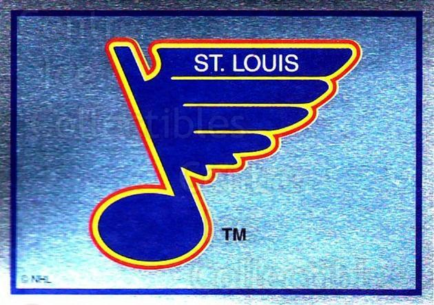 1995-96 Panini Stickers #196 St. Louis Blues<br/>6 In Stock - $1.00 each - <a href=https://centericecollectibles.foxycart.com/cart?name=1995-96%20Panini%20Stickers%20%23196%20St.%20Louis%20Blues...&quantity_max=6&price=$1.00&code=41315 class=foxycart> Buy it now! </a>