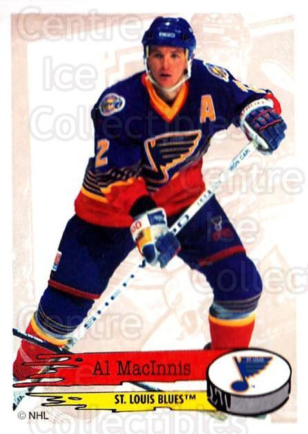 1995-96 Panini Stickers #197 Al MacInnis<br/>6 In Stock - $1.00 each - <a href=https://centericecollectibles.foxycart.com/cart?name=1995-96%20Panini%20Stickers%20%23197%20Al%20MacInnis...&quantity_max=6&price=$1.00&code=41316 class=foxycart> Buy it now! </a>