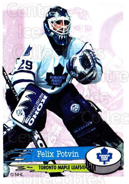 1995-96 Panini Stickers #210 Felix Potvin<br/>3 In Stock - $1.00 each - <a href=https://centericecollectibles.foxycart.com/cart?name=1995-96%20Panini%20Stickers%20%23210%20Felix%20Potvin...&quantity_max=3&price=$1.00&code=41332 class=foxycart> Buy it now! </a>