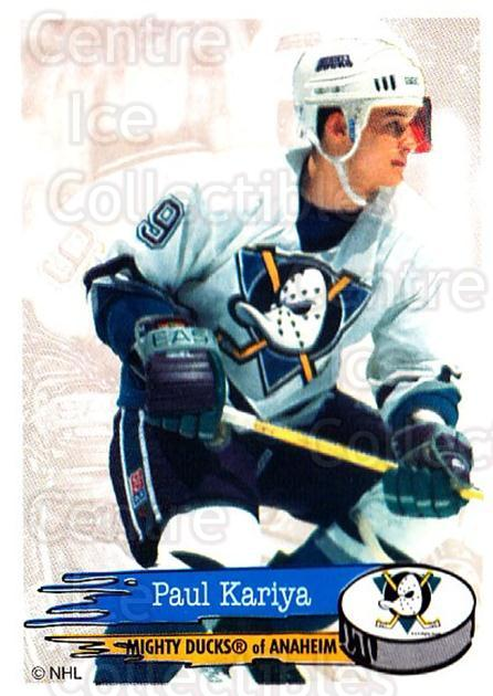 1995-96 Panini Stickers #227 Paul Kariya<br/>5 In Stock - $1.00 each - <a href=https://centericecollectibles.foxycart.com/cart?name=1995-96%20Panini%20Stickers%20%23227%20Paul%20Kariya...&quantity_max=5&price=$1.00&code=41349 class=foxycart> Buy it now! </a>