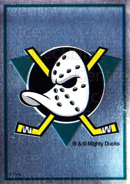 1995-96 Panini Stickers #229 Anaheim Mighty Ducks<br/>4 In Stock - $1.00 each - <a href=https://centericecollectibles.foxycart.com/cart?name=1995-96%20Panini%20Stickers%20%23229%20Anaheim%20Mighty%20...&quantity_max=4&price=$1.00&code=41351 class=foxycart> Buy it now! </a>