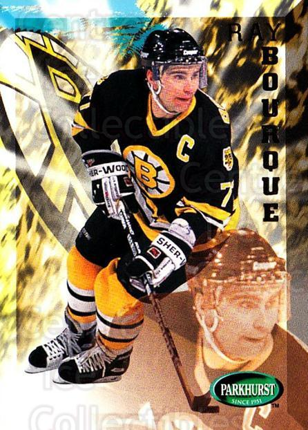 1995-96 Parkhurst #11 Ray Bourque<br/>3 In Stock - $2.00 each - <a href=https://centericecollectibles.foxycart.com/cart?name=1995-96%20Parkhurst%20%2311%20Ray%20Bourque...&quantity_max=3&price=$2.00&code=41740 class=foxycart> Buy it now! </a>