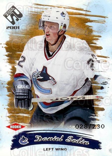 2000-01 Private Stock Retail #148 Daniel Sedin<br/>1 In Stock - $5.00 each - <a href=https://centericecollectibles.foxycart.com/cart?name=2000-01%20Private%20Stock%20Retail%20%23148%20Daniel%20Sedin...&price=$5.00&code=417756 class=foxycart> Buy it now! </a>