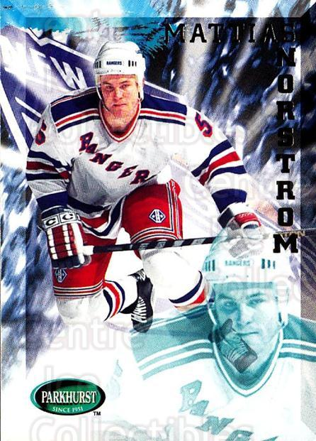 1995-96 Parkhurst #143 Mattias Norstrom<br/>4 In Stock - $1.00 each - <a href=https://centericecollectibles.foxycart.com/cart?name=1995-96%20Parkhurst%20%23143%20Mattias%20Norstro...&quantity_max=4&price=$1.00&code=41777 class=foxycart> Buy it now! </a>