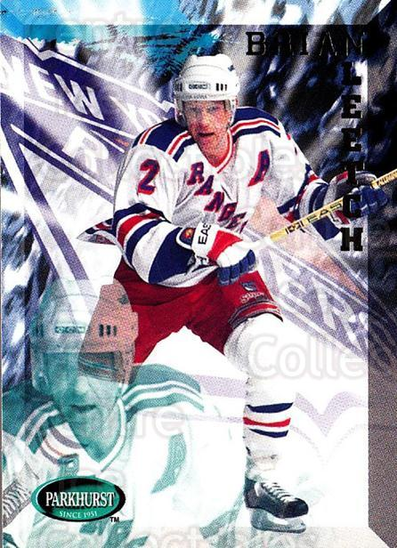 1995-96 Parkhurst #144 Brian Leetch<br/>4 In Stock - $1.00 each - <a href=https://centericecollectibles.foxycart.com/cart?name=1995-96%20Parkhurst%20%23144%20Brian%20Leetch...&quantity_max=4&price=$1.00&code=41778 class=foxycart> Buy it now! </a>