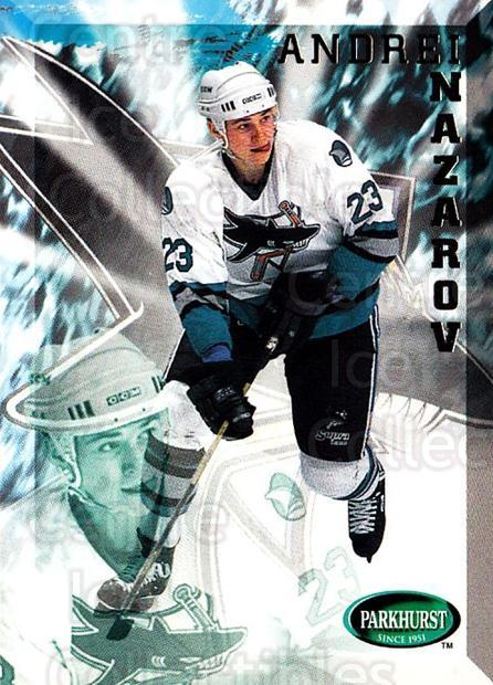 1995-96 Parkhurst #186 Andrei Nazarov<br/>3 In Stock - $1.00 each - <a href=https://centericecollectibles.foxycart.com/cart?name=1995-96%20Parkhurst%20%23186%20Andrei%20Nazarov...&quantity_max=3&price=$1.00&code=41824 class=foxycart> Buy it now! </a>