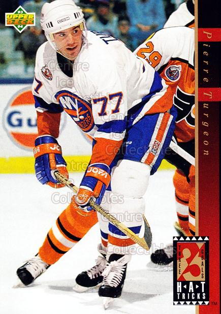 1993-94 Upper Deck Hat Tricks #11 Pierre Turgeon<br/>14 In Stock - $2.00 each - <a href=https://centericecollectibles.foxycart.com/cart?name=1993-94%20Upper%20Deck%20Hat%20Tricks%20%2311%20Pierre%20Turgeon...&quantity_max=14&price=$2.00&code=4186 class=foxycart> Buy it now! </a>