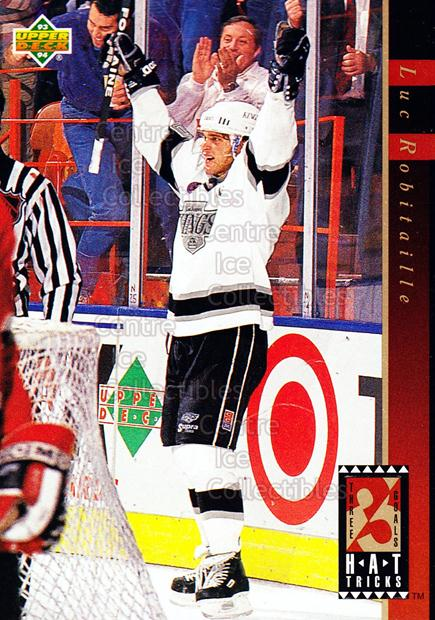1993-94 Upper Deck Hat Tricks #17 Luc Robitaille<br/>10 In Stock - $2.00 each - <a href=https://centericecollectibles.foxycart.com/cart?name=1993-94%20Upper%20Deck%20Hat%20Tricks%20%2317%20Luc%20Robitaille...&quantity_max=10&price=$2.00&code=4192 class=foxycart> Buy it now! </a>