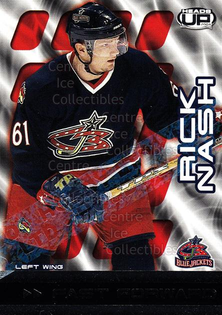 2003-04 Heads-Up Fast Forwards Ltd #3 Rick Nash<br/>3 In Stock - $5.00 each - <a href=https://centericecollectibles.foxycart.com/cart?name=2003-04%20Heads-Up%20Fast%20Forwards%20Ltd%20%233%20Rick%20Nash...&quantity_max=3&price=$5.00&code=420212 class=foxycart> Buy it now! </a>