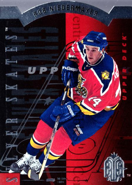1993-94 Upper Deck Silver Skates Hobby #4 Rob Niedermayer<br/>10 In Stock - $3.00 each - <a href=https://centericecollectibles.foxycart.com/cart?name=1993-94%20Upper%20Deck%20Silver%20Skates%20Hobby%20%234%20Rob%20Niedermayer...&quantity_max=10&price=$3.00&code=4208 class=foxycart> Buy it now! </a>