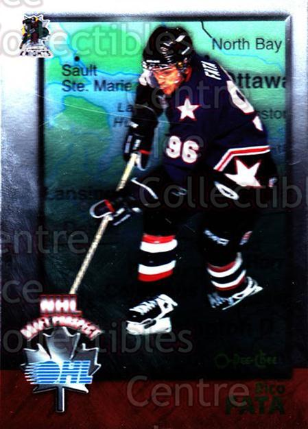 1998 Bowman CHL OPC International #131 Rico Fata<br/>2 In Stock - $2.00 each - <a href=https://centericecollectibles.foxycart.com/cart?name=1998%20Bowman%20CHL%20OPC%20International%20%23131%20Rico%20Fata...&quantity_max=2&price=$2.00&code=421044 class=foxycart> Buy it now! </a>