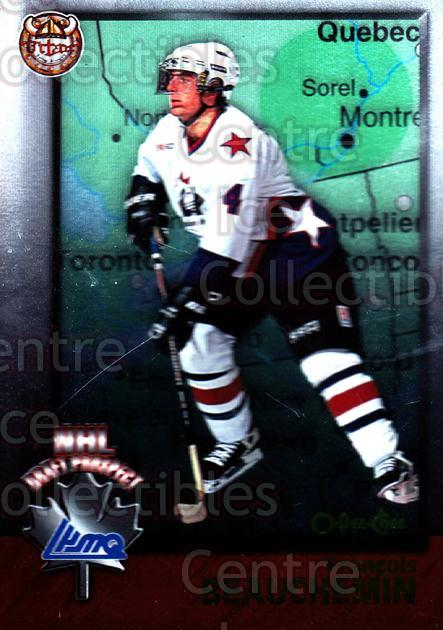 1998 Bowman CHL OPC International #153 Francois Beauchemin<br/>3 In Stock - $2.00 each - <a href=https://centericecollectibles.foxycart.com/cart?name=1998%20Bowman%20CHL%20OPC%20International%20%23153%20Francois%20Beauch...&quantity_max=3&price=$2.00&code=421067 class=foxycart> Buy it now! </a>