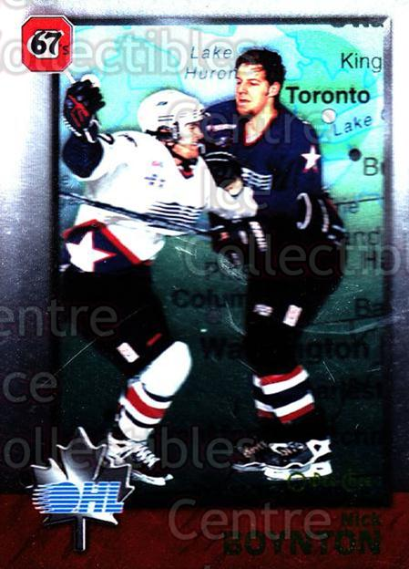 1998 Bowman CHL OPC International #27 Nick Boynton<br/>3 In Stock - $2.00 each - <a href=https://centericecollectibles.foxycart.com/cart?name=1998%20Bowman%20CHL%20OPC%20International%20%2327%20Nick%20Boynton...&quantity_max=3&price=$2.00&code=421092 class=foxycart> Buy it now! </a>