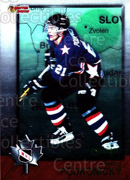 1998 Bowman CHL OPC International #56 Andrei Podkonicky<br/>4 In Stock - $2.00 each - <a href=https://centericecollectibles.foxycart.com/cart?name=1998%20Bowman%20CHL%20OPC%20International%20%2356%20Andrei%20Podkonic...&quantity_max=4&price=$2.00&code=421124 class=foxycart> Buy it now! </a>