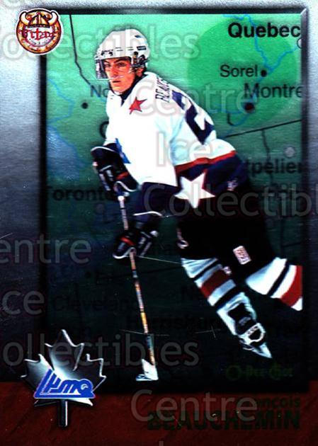 1998 Bowman CHL OPC International #92 Francois Beauchemin<br/>5 In Stock - $2.00 each - <a href=https://centericecollectibles.foxycart.com/cart?name=1998%20Bowman%20CHL%20OPC%20International%20%2392%20Francois%20Beauch...&quantity_max=5&price=$2.00&code=421163 class=foxycart> Buy it now! </a>