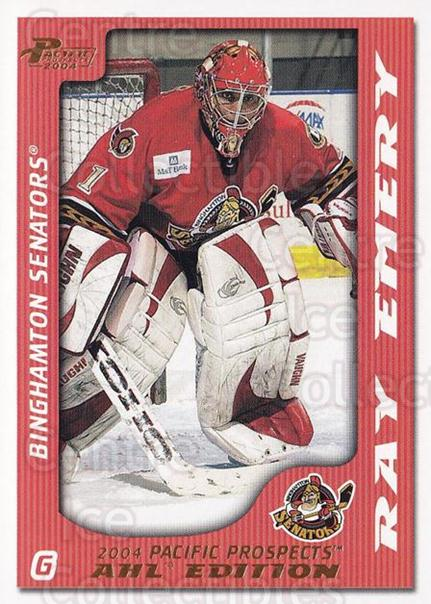 2003-04 Pacific AHL Prospects Gold #5 Ray Emery<br/>3 In Stock - $2.00 each - <a href=https://centericecollectibles.foxycart.com/cart?name=2003-04%20Pacific%20AHL%20Prospects%20Gold%20%235%20Ray%20Emery...&quantity_max=3&price=$2.00&code=421734 class=foxycart> Buy it now! </a>
