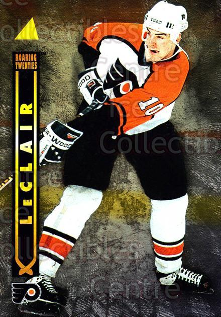 1995-96 Pinnacle Roaring 20s #16 John LeClair<br/>3 In Stock - $3.00 each - <a href=https://centericecollectibles.foxycart.com/cart?name=1995-96%20Pinnacle%20Roaring%2020s%20%2316%20John%20LeClair...&quantity_max=3&price=$3.00&code=42174 class=foxycart> Buy it now! </a>