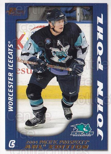 2003-04 Pacific AHL Prospects Gold #99 John Pohl<br/>3 In Stock - $2.00 each - <a href=https://centericecollectibles.foxycart.com/cart?name=2003-04%20Pacific%20AHL%20Prospects%20Gold%20%2399%20John%20Pohl...&quantity_max=3&price=$2.00&code=421778 class=foxycart> Buy it now! </a>