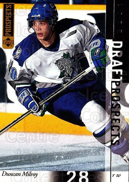 2000-01 UD CHL Prospects #94 Duncan Milroy<br/>1 In Stock - $1.00 each - <a href=https://centericecollectibles.foxycart.com/cart?name=2000-01%20UD%20CHL%20Prospects%20%2394%20Duncan%20Milroy...&quantity_max=1&price=$1.00&code=421799 class=foxycart> Buy it now! </a>
