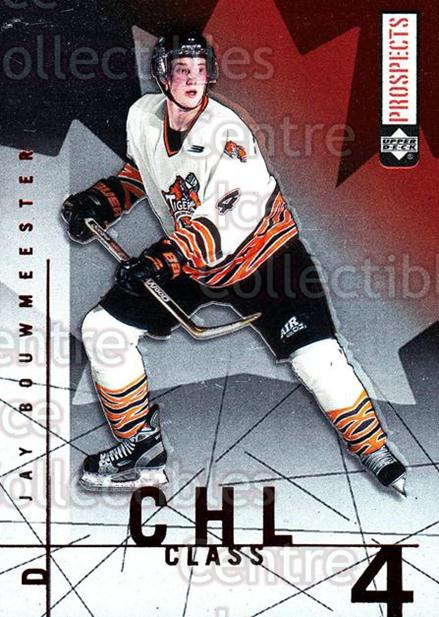 2000-01 UD CHL Prospects CHL Class #4 Jay Bouwmeester<br/>1 In Stock - $2.00 each - <a href=https://centericecollectibles.foxycart.com/cart?name=2000-01%20UD%20CHL%20Prospects%20CHL%20Class%20%234%20Jay%20Bouwmeester...&quantity_max=1&price=$2.00&code=421801 class=foxycart> Buy it now! </a>