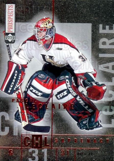 2000-01 UD CHL Prospects Supremacy #10 Pascal LeClaire<br/>2 In Stock - $2.00 each - <a href=https://centericecollectibles.foxycart.com/cart?name=2000-01%20UD%20CHL%20Prospects%20Supremacy%20%2310%20Pascal%20LeClaire...&price=$2.00&code=421818 class=foxycart> Buy it now! </a>