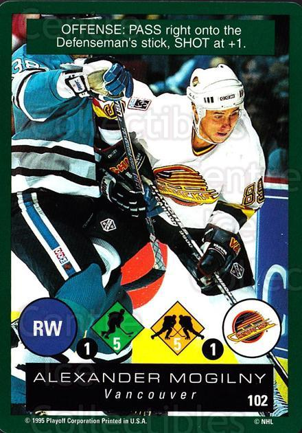 1995-96 Playoff One on One #102 Alexander Mogilny<br/>7 In Stock - $1.00 each - <a href=https://centericecollectibles.foxycart.com/cart?name=1995-96%20Playoff%20One%20on%20One%20%23102%20Alexander%20Mogil...&quantity_max=7&price=$1.00&code=42292 class=foxycart> Buy it now! </a>