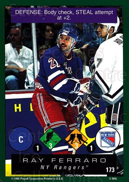 1995-96 Playoff One on One #173 Ray Ferraro<br/>6 In Stock - $1.00 each - <a href=https://centericecollectibles.foxycart.com/cart?name=1995-96%20Playoff%20One%20on%20One%20%23173%20Ray%20Ferraro...&quantity_max=6&price=$1.00&code=42370 class=foxycart> Buy it now! </a>