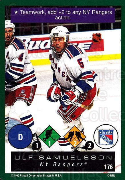 1995-96 Playoff One on One #176 Ulf Samuelsson<br/>7 In Stock - $1.00 each - <a href=https://centericecollectibles.foxycart.com/cart?name=1995-96%20Playoff%20One%20on%20One%20%23176%20Ulf%20Samuelsson...&quantity_max=7&price=$1.00&code=42373 class=foxycart> Buy it now! </a>