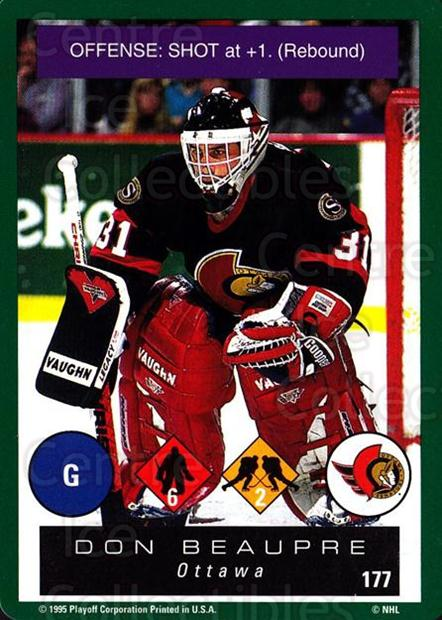 1995-96 Playoff One on One #177 Don Beaupre<br/>7 In Stock - $1.00 each - <a href=https://centericecollectibles.foxycart.com/cart?name=1995-96%20Playoff%20One%20on%20One%20%23177%20Don%20Beaupre...&quantity_max=7&price=$1.00&code=42374 class=foxycart> Buy it now! </a>
