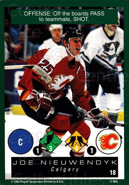 1995-96 Playoff One on One #18 Joe Nieuwendyk<br/>6 In Stock - $1.00 each - <a href=https://centericecollectibles.foxycart.com/cart?name=1995-96%20Playoff%20One%20on%20One%20%2318%20Joe%20Nieuwendyk...&quantity_max=6&price=$1.00&code=42376 class=foxycart> Buy it now! </a>