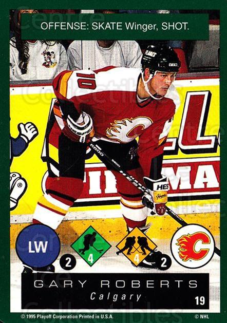 1995-96 Playoff One on One #19 Gary Roberts<br/>7 In Stock - $1.00 each - <a href=https://centericecollectibles.foxycart.com/cart?name=1995-96%20Playoff%20One%20on%20One%20%2319%20Gary%20Roberts...&quantity_max=7&price=$1.00&code=42387 class=foxycart> Buy it now! </a>
