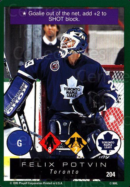 1995-96 Playoff One on One #204 Felix Potvin<br/>5 In Stock - $1.00 each - <a href=https://centericecollectibles.foxycart.com/cart?name=1995-96%20Playoff%20One%20on%20One%20%23204%20Felix%20Potvin...&quantity_max=5&price=$1.00&code=42404 class=foxycart> Buy it now! </a>