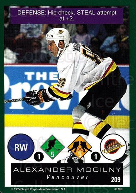 1995-96 Playoff One on One #209 Alexander Mogilny<br/>6 In Stock - $1.00 each - <a href=https://centericecollectibles.foxycart.com/cart?name=1995-96%20Playoff%20One%20on%20One%20%23209%20Alexander%20Mogil...&quantity_max=6&price=$1.00&code=42409 class=foxycart> Buy it now! </a>