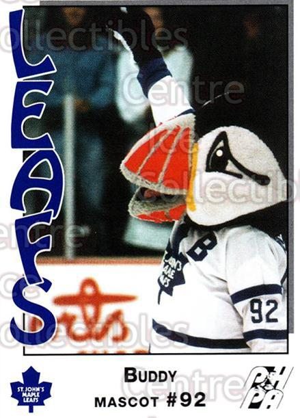 1993-94 St. Johns Maple Leafs #25 Mascot<br/>5 In Stock - $3.00 each - <a href=https://centericecollectibles.foxycart.com/cart?name=1993-94%20St.%20Johns%20Maple%20Leafs%20%2325%20Mascot...&quantity_max=5&price=$3.00&code=4241 class=foxycart> Buy it now! </a>