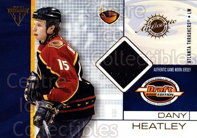 2001-02 Titanium Draft Day Edition #4 Dany Heatley<br/>1 In Stock - $5.00 each - <a href=https://centericecollectibles.foxycart.com/cart?name=2001-02%20Titanium%20Draft%20Day%20Edition%20%234%20Dany%20Heatley...&quantity_max=1&price=$5.00&code=425895 class=foxycart> Buy it now! </a>