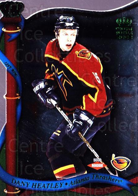2001-02 Crown Royale Retail #6 Dany Heatley<br/>4 In Stock - $1.00 each - <a href=https://centericecollectibles.foxycart.com/cart?name=2001-02%20Crown%20Royale%20Retail%20%236%20Dany%20Heatley...&quantity_max=4&price=$1.00&code=426008 class=foxycart> Buy it now! </a>