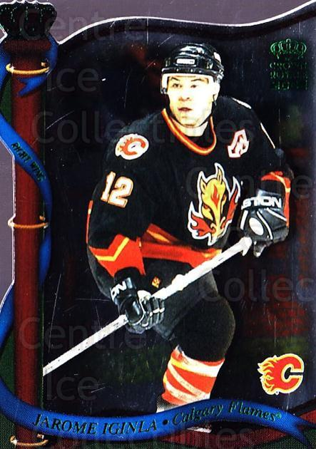 2001-02 Crown Royale Retail #20 Jarome Iginla<br/>5 In Stock - $1.00 each - <a href=https://centericecollectibles.foxycart.com/cart?name=2001-02%20Crown%20Royale%20Retail%20%2320%20Jarome%20Iginla...&quantity_max=5&price=$1.00&code=426010 class=foxycart> Buy it now! </a>