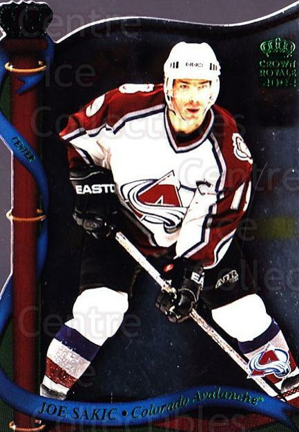 2001-02 Crown Royale Retail #40 Joe Sakic<br/>4 In Stock - $2.00 each - <a href=https://centericecollectibles.foxycart.com/cart?name=2001-02%20Crown%20Royale%20Retail%20%2340%20Joe%20Sakic...&quantity_max=4&price=$2.00&code=426014 class=foxycart> Buy it now! </a>