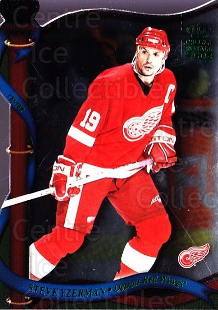 2001-02 Crown Royale Retail #57 Steve Yzerman<br/>2 In Stock - $3.00 each - <a href=https://centericecollectibles.foxycart.com/cart?name=2001-02%20Crown%20Royale%20Retail%20%2357%20Steve%20Yzerman...&quantity_max=2&price=$3.00&code=426019 class=foxycart> Buy it now! </a>