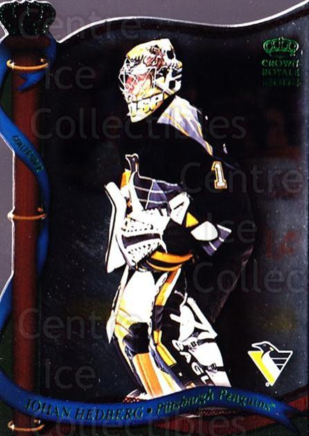 2001-02 Crown Royale Retail #114 Johan Hedberg<br/>8 In Stock - $1.00 each - <a href=https://centericecollectibles.foxycart.com/cart?name=2001-02%20Crown%20Royale%20Retail%20%23114%20Johan%20Hedberg...&quantity_max=8&price=$1.00&code=426027 class=foxycart> Buy it now! </a>