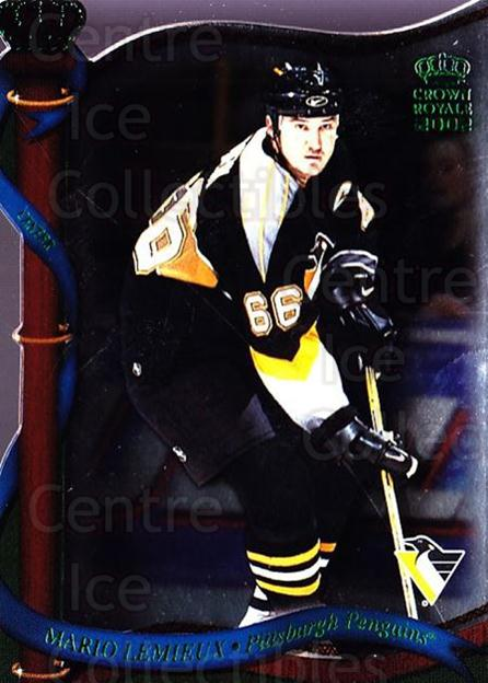 2001-02 Crown Royale Retail #117 Mario Lemieux<br/>3 In Stock - $5.00 each - <a href=https://centericecollectibles.foxycart.com/cart?name=2001-02%20Crown%20Royale%20Retail%20%23117%20Mario%20Lemieux...&quantity_max=3&price=$5.00&code=426028 class=foxycart> Buy it now! </a>
