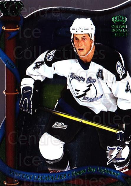 2001-02 Crown Royale Retail #128 Vincent Lecavalier<br/>5 In Stock - $1.00 each - <a href=https://centericecollectibles.foxycart.com/cart?name=2001-02%20Crown%20Royale%20Retail%20%23128%20Vincent%20Lecaval...&quantity_max=5&price=$1.00&code=426031 class=foxycart> Buy it now! </a>