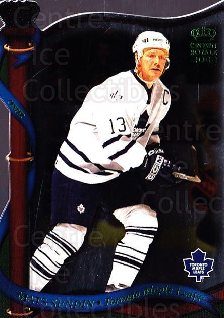 2001-02 Crown Royale Retail #134 Mats Sundin<br/>3 In Stock - $1.00 each - <a href=https://centericecollectibles.foxycart.com/cart?name=2001-02%20Crown%20Royale%20Retail%20%23134%20Mats%20Sundin...&quantity_max=3&price=$1.00&code=426034 class=foxycart> Buy it now! </a>