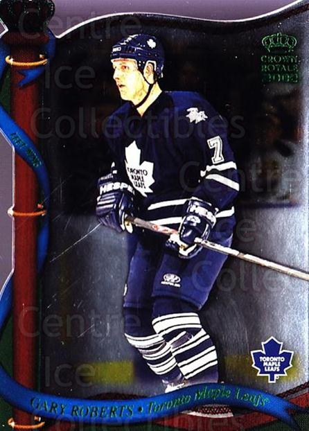 2001-02 Crown Royale Retail #133 Gary Roberts<br/>3 In Stock - $1.00 each - <a href=https://centericecollectibles.foxycart.com/cart?name=2001-02%20Crown%20Royale%20Retail%20%23133%20Gary%20Roberts...&quantity_max=3&price=$1.00&code=426069 class=foxycart> Buy it now! </a>