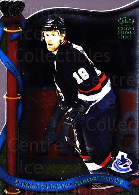 2001-02 Crown Royale Retail #138 Markus Naslund<br/>5 In Stock - $1.00 each - <a href=https://centericecollectibles.foxycart.com/cart?name=2001-02%20Crown%20Royale%20Retail%20%23138%20Markus%20Naslund...&quantity_max=5&price=$1.00&code=426073 class=foxycart> Buy it now! </a>