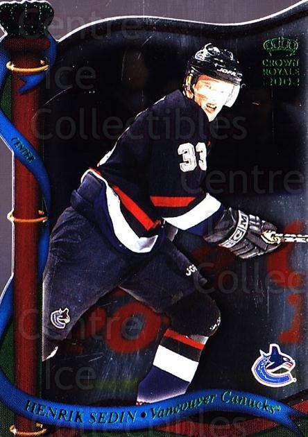 2001-02 Crown Royale Retail #140 Henrik Sedin<br/>5 In Stock - $1.00 each - <a href=https://centericecollectibles.foxycart.com/cart?name=2001-02%20Crown%20Royale%20Retail%20%23140%20Henrik%20Sedin...&quantity_max=5&price=$1.00&code=426076 class=foxycart> Buy it now! </a>